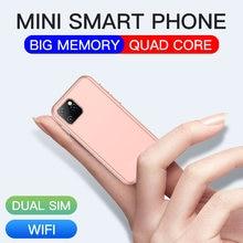 Мини android 60 сотовые телефоны с 3d стеклом тонкий милый смартфон