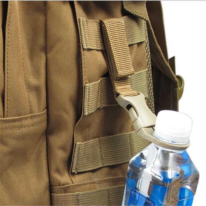 Outdoor Military Nylon Gurtband Schnalle Haken Wasser Flasche Halter Clip EDC Klettern Karabiner Gürtel Rucksack Aufhänger Camp