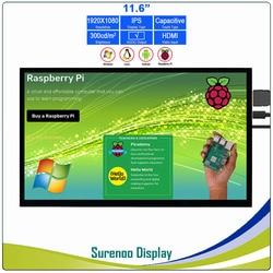 11.6 1920*1080 HDMI LCD Module Display Monitor IPS Scherm met USB Capacitieve Touch Panel ondersteuning Audio Output voor Raspberry Pi