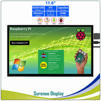 11.6 1920*1080 HDMI LCD Module Display Monitor IPS Screen with USB Capacitive Touch Panel support Audio Output for Raspberry Pi