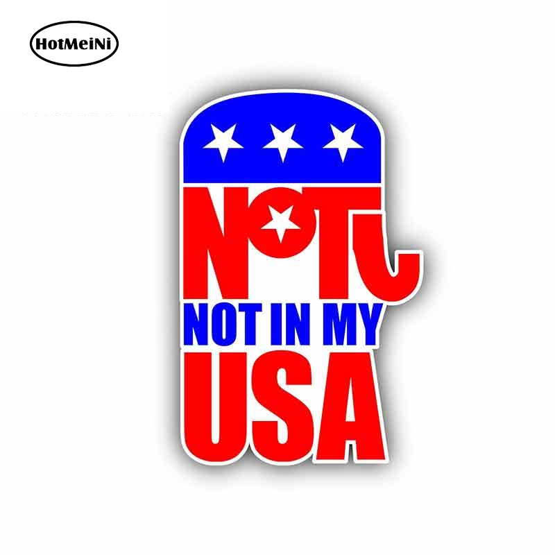 HotMeiNi 13cm x 8.9cm for <font><b>Democratic</b></font> Party Sign Car <font><b>Stickers</b></font> Vinyl JDM Bumper Trunk Truck Graphics Waterproof Anime Fine Decal image