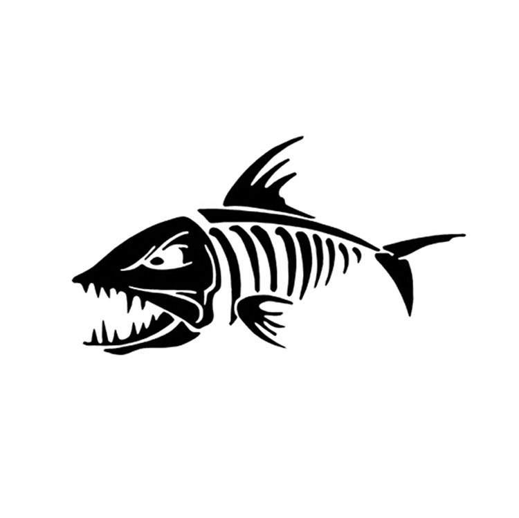 18*10CM Marine FISH BONES Car Sticker Decals Fishbone Personality Motorcycle Stickers And