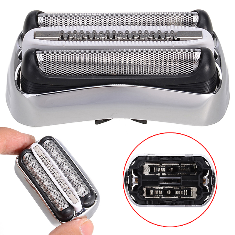 New ABS + Stainless Steel Shaver Foil Head 32B 32S 21B Electric Shaver Shaving Head For Braun Series 3 310S 320S 370CC