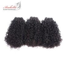 毛織りバンドル 3 ピース 100% 人毛エクステンションナチュラルカラー Arabella の Remy 毛束