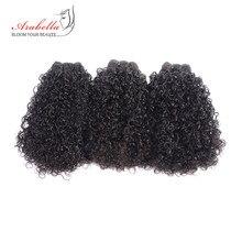 Tissage en lot Remy 100% naturel bouclé-Arabella   Couleur naturelle, Extension de cheveux, lot de 3 pièces