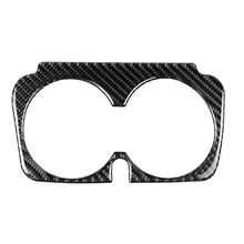 Car Styling Carbon Fiber Water Cup Holder Frame Trim Sticker For Mercedes Benz C