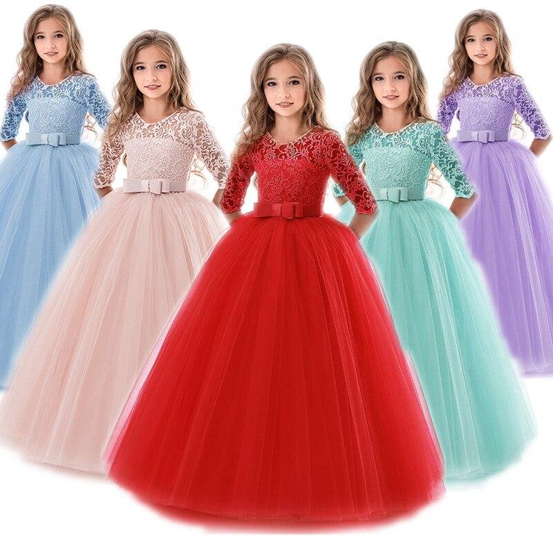 Vestiti Eleganti 15 Anni.6 To14 Anni Del Bambino Ragazze Di Fiore Del Vestito Lungo Abiti