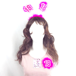 Lovely 18 birthday headband brooch set pink DIY party decoration 21 30 40 50 annivasory birthday princess sparkle fabric feature