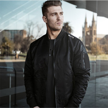 2019 new jacket black pilot autumn and winter men's jacket cardigan zipper shirt men's casual brand jacket zipper quilted pilot jacket