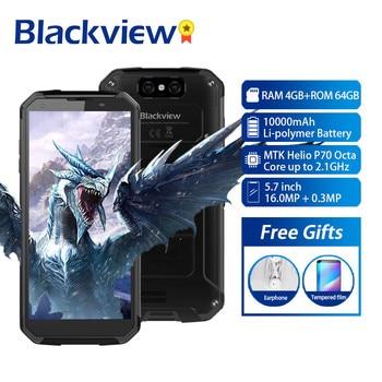 Перейти на Алиэкспресс и купить Blackview BV9500 Plus смартфон с 5,7-дюймовым дисплеем, восьмиядерным процессором Helio P70, ОЗУ 4 Гб, ПЗУ 64 ГБ, Android 9,0, 4G
