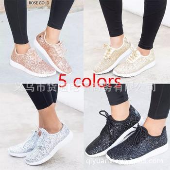 Women White Glitter Sock Sneakers Fashion Bling Casual Vulcanized Flat Shoes Trainers Female Loafers Tenis Feminino Basket Femme