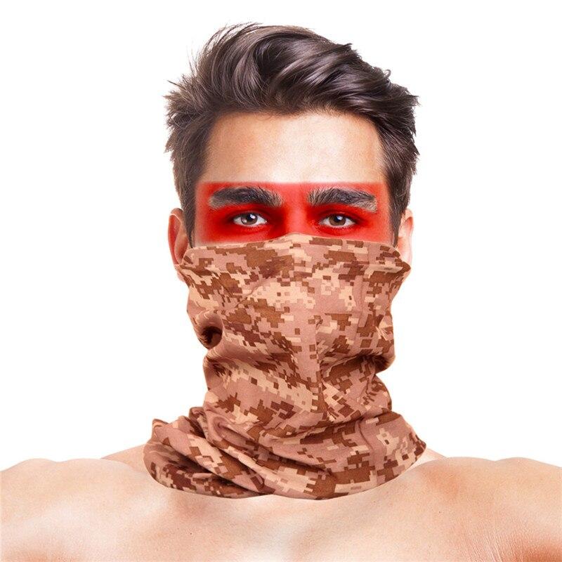 Армейская цифровая рыболовная Бандана с изображением масок для лица из полиэстера ветрозащитная Зимняя Маска для головы и шеи для лица одежда для рыбалки - Цвет: 019