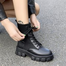 2020 New Women Army Combat Ankle Boots Woman Shoes Casual La