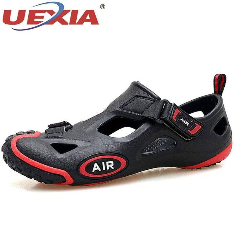 UEIXA New Unisex Fashion Spring Summer Shoes Men Sneakers Sandals Outdoor Water Shoes Men Beach Sandals Mens Footwear Size 36-45