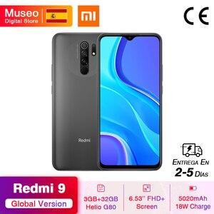 "Global Version Redmi 9 Mobile Phones Helio G80 Octa Core 3GB RAM 32GB ROM 6.53"" FHD+ 13MP AI Quad Cams Smartphone 5020mAh"