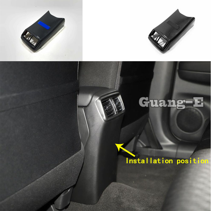 Car Garnish Rear Back Upside Air Conditioning Outlet Vent Stick Parts 1pcs For Nissan X-Trail XTrail T32/Rogue 2017 2018 2019