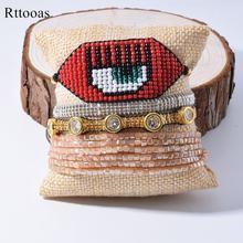 Rttooas браслет со сглаза для женщин miyuki браслеты из бисера