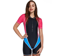 SBART Snorkeling Swim Surf Lycra Skin Full Suit Wetsuit for Women&Girls Short Sleeves Swimsuit Swimming Bathing Suit