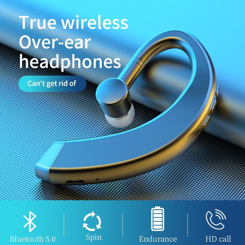 Новинка 2021, подвесные наушники с ушным крючком, беспроводные Bluetooth-наушники, Накладные наушники с микрофоном, спортивные Hi-Fi стерео гарнитур...