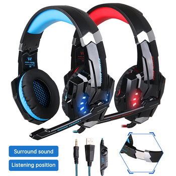 Słuchawki dla graczy duże słuchawki z lekkim mikrofonem słuchawki Stereo głęboki bas dla komputer stancjonarny Gamer Laptop PS4 nowy X-BOX