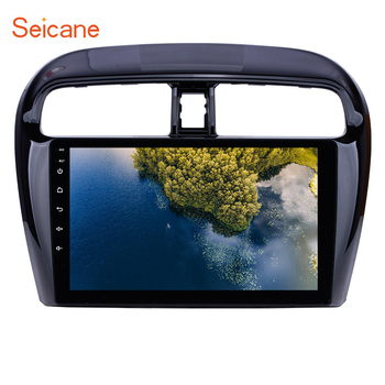 Seicane ROM 16GB 4-Core Car Radio Multimedia Player 9 inch Android 9.1 for Mitsubishi Mirage 2012-2016 GPS Navigation WIFI FM 3G image