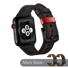 цена на 40mm 44mm Luxury Genuine Leather Strap For Apple Watch 42mm 38mm Band Wrist Strap Bracelet For iWatch Series 5 4 3 2 1 Watchband
