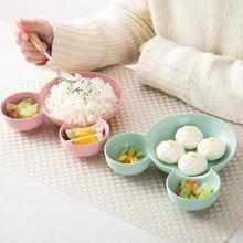 Divided Children's Plate Cute Creative Household Dinnerware Baby Plate Breakfast Dinner Plate AT103