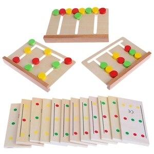 Деревянные Монтессори Sensorial материал Цвет сортировки игра обучающая игрушка для детей Q6PA