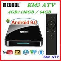 Max 4GB di RAM 128GB di ROM Mecool Androidtv KM3 TV BOX Android 9.0 Google Certificato S905X2 4K Smart media Player KM9 PRO ATV 2G16G