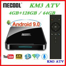 Max 4GB RAM 128GB ROM Mecool Androidtv KM3 TV BOX Android 9.