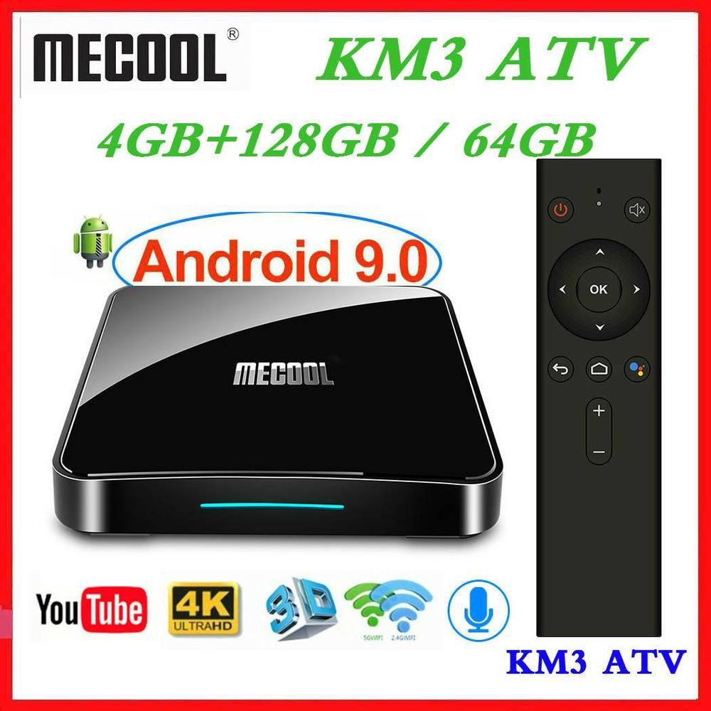Max 4GB RAM 128GB ROM <font><b>Mecool</b></font> Androidtv KM3 <font><b>TV</b></font> <font><b>BOX</b></font> <font><b>Android</b></font> 9.0 Google Certified <font><b>S905X2</b></font> 4K Smart Media Player <font><b>KM9</b></font> PRO ATV 2G16G image
