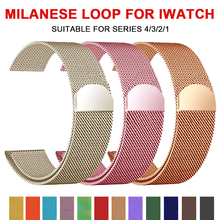 Milanese Loop Bracelet Stainless Steel band For Apple Watch series 12 3 42mm 38mm strap for iwatch 4 5 40mm 44mm
