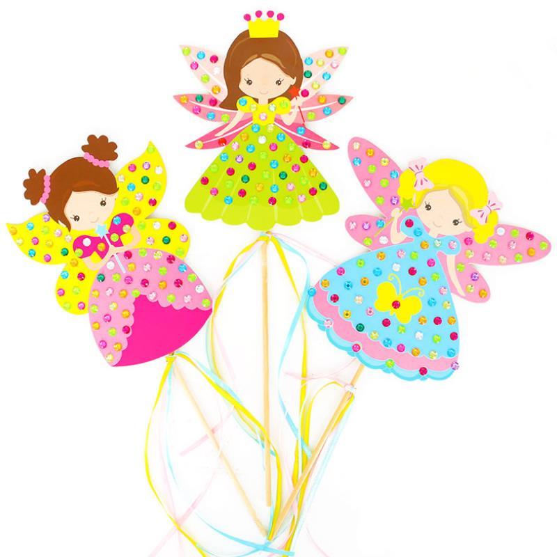 Cute Diamond Fairy Stick Craft Princess Stick Kindergarten Lots Arts Crafts Diy Toys Puzzle Toys For Kids Children's Girl Gift