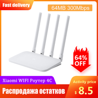 Original Xiaomi Mi WIFI Router 4C 64 RAM 300Mbps 2.4G 4 Antennas Band Wireless Routers WiFi Repeater APP Control for home office