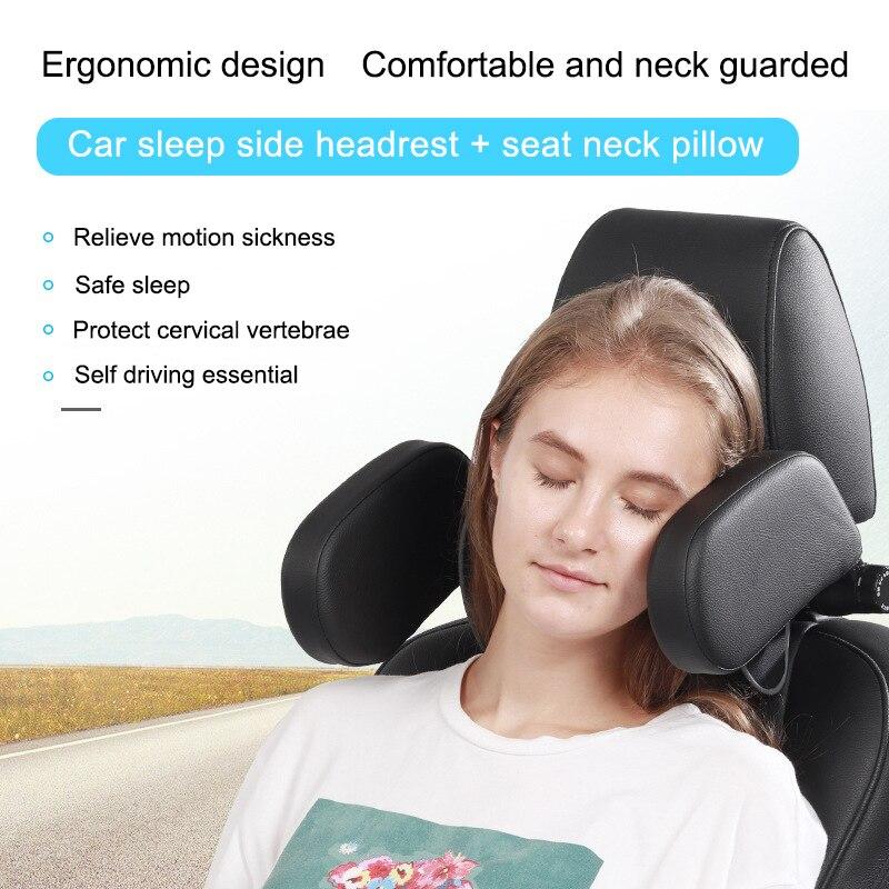 Carro quente dormir encosto de cabeça travesseiro pescoço proteção em forma de u travesseiro para assento de carro x66