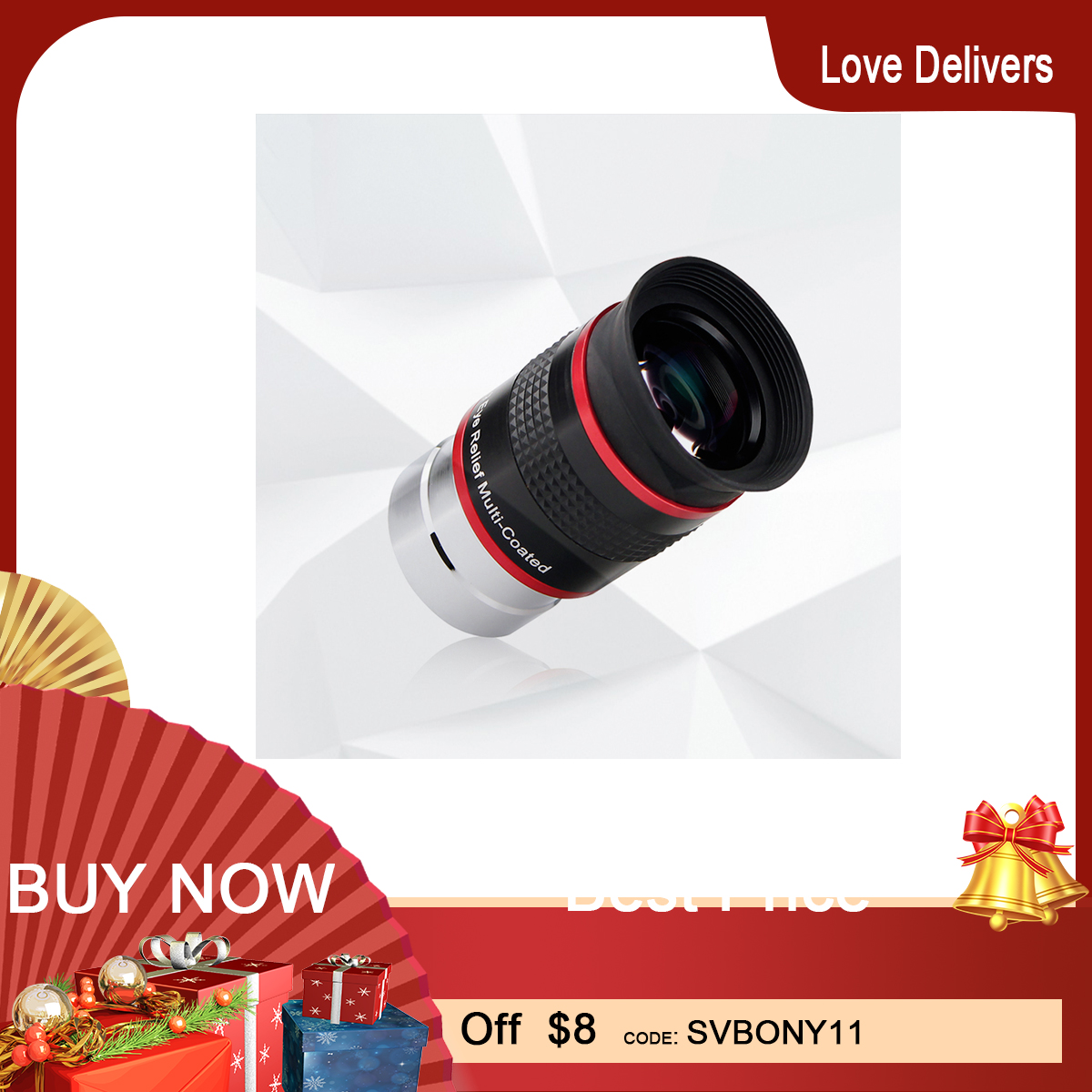 SVBONY telescope Eyepiece FMC 1 25inch 68 Degree Ultra Wide Angle 6mm 9mm 15m 20mm for Astronomical Telescope Monocular Eyepiece