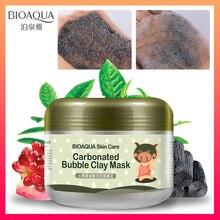 BIOAQUA, уход за кожей, питание, восстанавливающие маски для лица, газированная пузырчатая глина, глубокое очищение, удаление черной головы, увлажняющий крем для лица