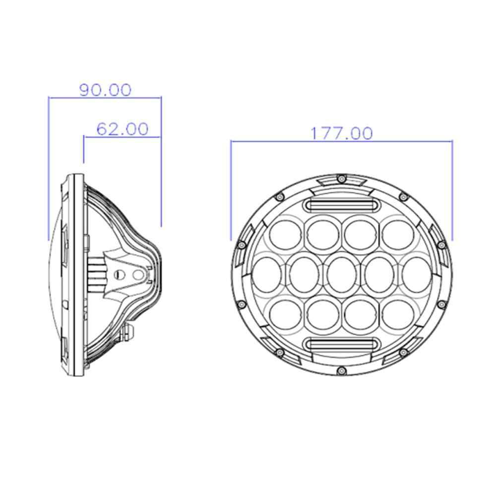 ECAHAYAKU для jeep Wrangler 7 дюймов круглый светодиодный головной светильник 75 Вт Высокий Низкий Луч светильник фары DRL H4 адаптер для внедорожного мотоцикла 4x4
