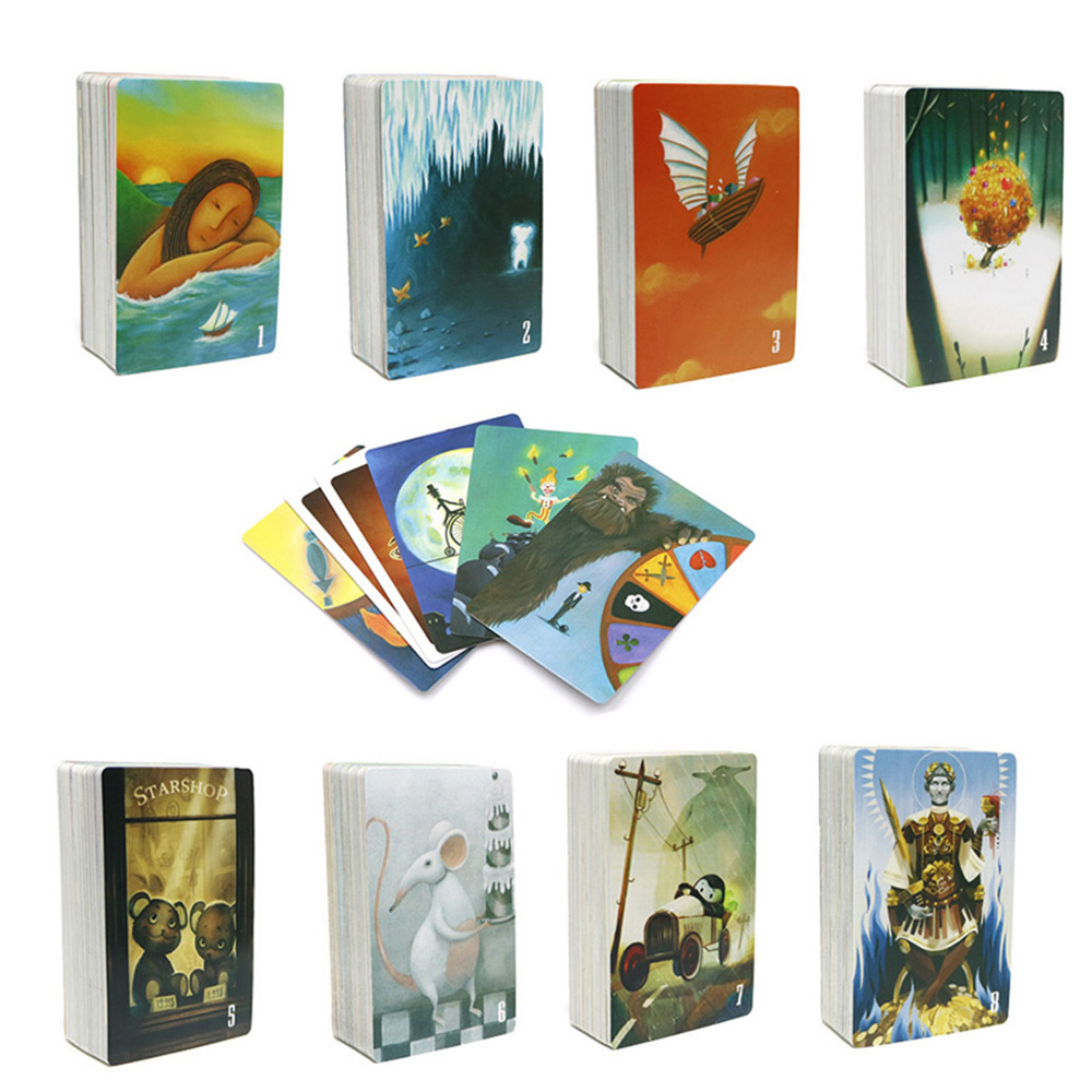 tell story card games, 84 playing cards, imagination education board game for kids adult party table games entertainment travel