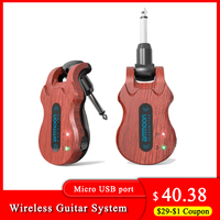 ammoon Wireless Guitar System Audio Digital Guitar Transmitter Receiver Built-in Rechargeable Battery Guitar accessories & parts