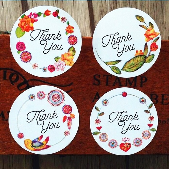 free shipping 1200pcs/lot Sweet Round Flower With White Background Use Bird Art Body For Wedding Seals Stickers In The Diary