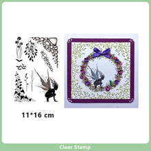 Fairy and Plants branch Clear Stamps for DIY Scrapbooking Card Transparent Rubber Making Album Photo Crafts New