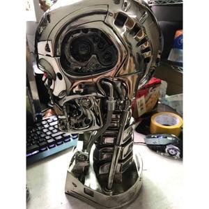 Image 4 - COOL! 1:1 Scale Terminator 39ซม.T 800กะโหลกศีรษะชิปElectroplateเรซินEditionมือชุดตกแต่งบทความ