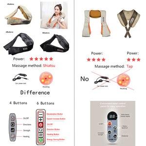 Image 2 - Elektrische Massage Shiatsu Terug Schouder Body Neck Massager Multifunctionele Sjaal Infrarood Verwarmde Kneden Auto/Home Massager