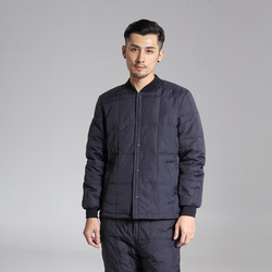 Conjunto de chaqueta de plumón para hombre de mediana edad, ropa de papá, plumón, forro de plumas y plumón, pantalones cálidos, gruesos