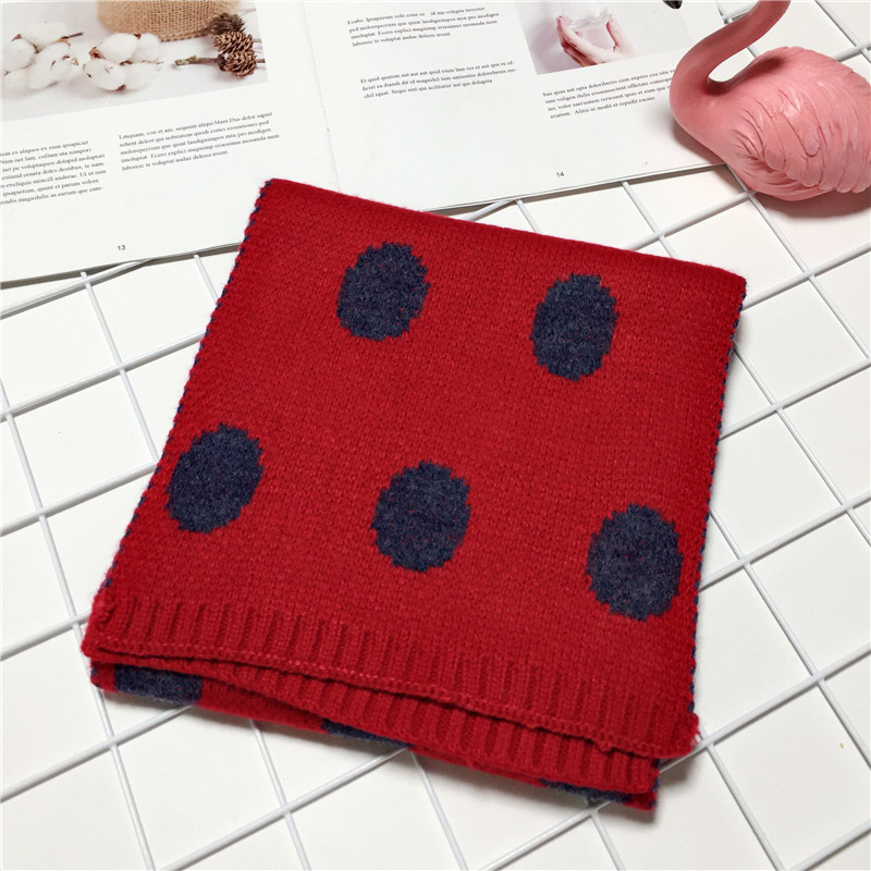 winter scarves for baby boys girls cute dot warm children scarf cashmere neckerchief in Scarves from Mother Kids