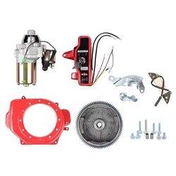 2 кВт электрический Стартовый Набор для HONDA GX160 GX200 и т. д. 3 кВт корпус генератора стартовый двигатель маховик катушка для зарядки Переключате...