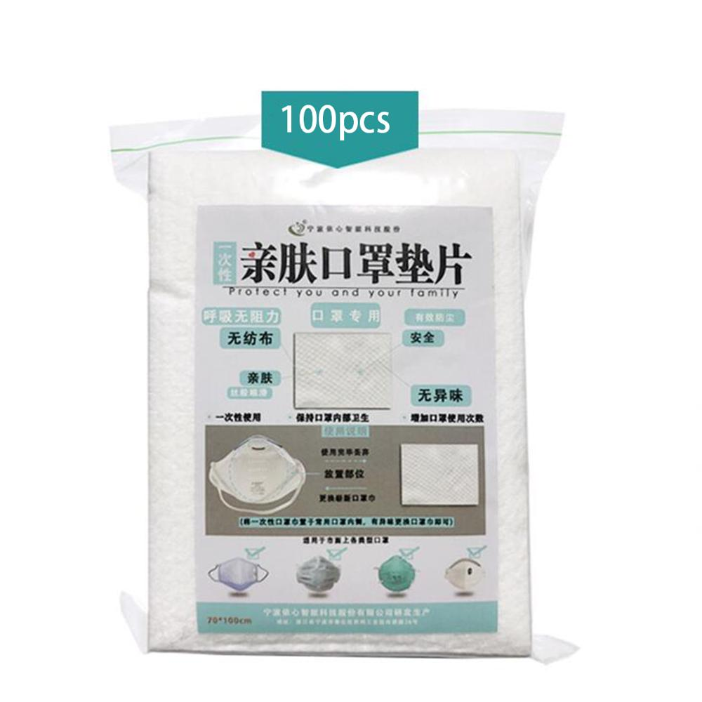 100 Pcs Disposable Masks Gasket For N90   Safety Mouth Face Mask Replacement Pad Filter Square Replaceable Mat