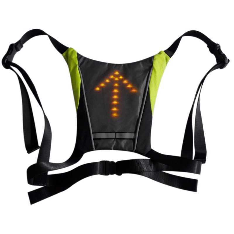 30 pieces Outdoor Reflective Safety Waterproof LED lights Warning Light Safety Jacket Signal Wireless Remote Control Vest NEW! Cycling Vest     - title=