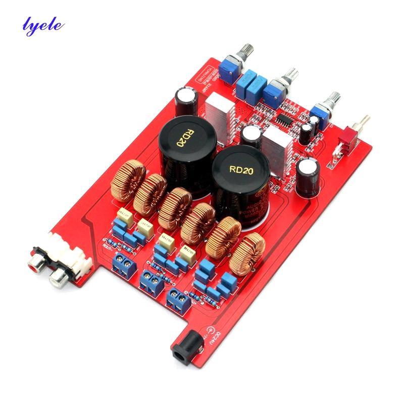 Плата усилителя звука TPA3116 2,1 канала 2*50 Вт + 100 Вт